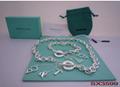 Tiffany&co.bracelet fashion bangle new earring lady tiffany neacklace gift box  3