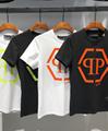 PHILIPP PLEIN Washed T-shirt Logo Cotton polo PP tshirt Skeleton man tops