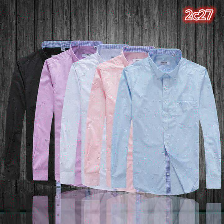 Armani Point collar shirt dress fashion blouse man long suit armani overshirt  3