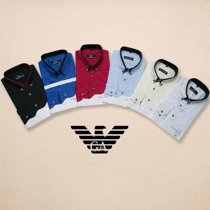 Armani Point collar shirt dress fashion blouse man long suit armani overshirt  6
