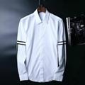 Armani Point collar shirt dress fashion blouse man long suit armani overshirt  8