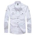 Armani Point collar shirt dress fashion blouse man long suit armani overshirt  9