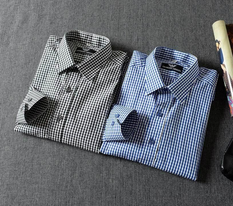 Armani Point collar shirt dress fashion blouse man long suit armani overshirt  10