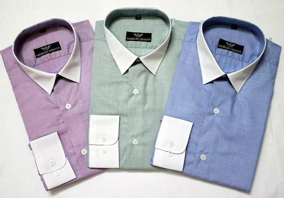 Armani Point collar shirt dress fashion blouse man long suit armani overshirt  11