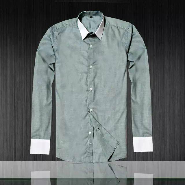 Armani Point collar shirt dress fashion blouse man long suit armani overshirt  12
