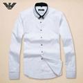 Armani Point collar shirt dress fashion blouse man long suit armani overshirt  13