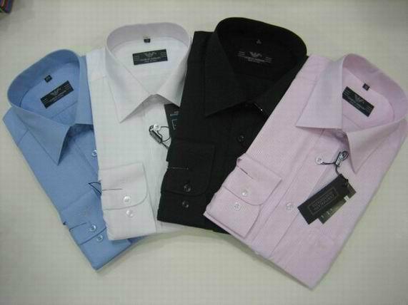 Armani Point collar shirt dress fashion blouse man long suit armani overshirt  15
