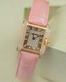 Cartier watch diamond lady fashion quartz wristwatch swiss movement stem-winder