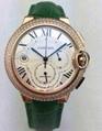 Luxury Cartier diamond watch men quartz wristwatch swiss movement stem-winder