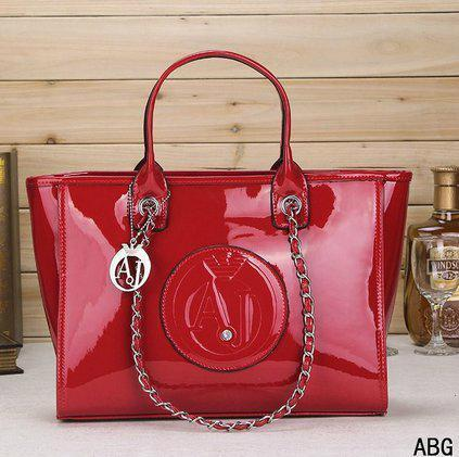 Cheap Armani bag glossy AJ handbag lady armani shoulder shopping bag gripesack