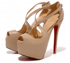 Christian Louboutin CL shoes pump platform peep toe sandal ankel strap stiletto