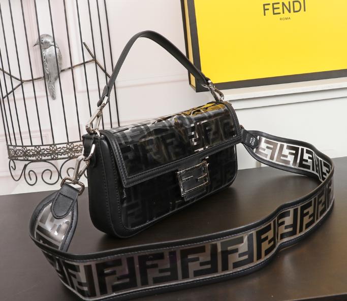 Fendi bag KAN I  Black leather FENDI CAMERA CASE Multicolor canvas bag purse 12