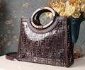 Fendi bag KAN I  Black leather FENDI CAMERA CASE Multicolor canvas bag purse 2