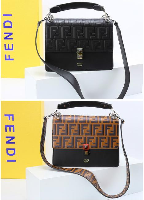 Fendi bag KAN I  Black leather FENDI CAMERA CASE Multicolor canvas bag purse 3
