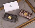 Fendi bag KAN I  Black leather FENDI CAMERA CASE Multicolor canvas bag purse 4