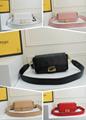 Fendi bag KAN I  Black leather FENDI CAMERA CASE Multicolor canvas bag purse 16