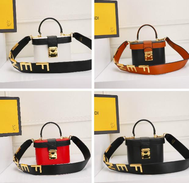 Fendi bag KAN I  Black leather FENDI CAMERA CASE Multicolor canvas bag purse 17