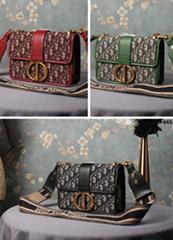 Dior Oblique Saddle bag Dior lady lambskin bag diorama shoulder bag