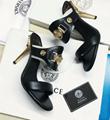 Versace 90s Vintage Logo Mid Heel Sandals Icon Leather Sandalsn versace slides 11