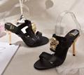 Versace 90s Vintage Logo Mid Heel Sandals Icon Leather Sandalsn versace slides 13