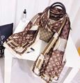 LV Monogram Confidential Bandeau scarf neckerchief LV muffler ID Giant Square