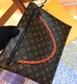 LV Santa Monica Chalk Nano Bag lv Sac Plat bag Soft Trunk Flat Messenger 3