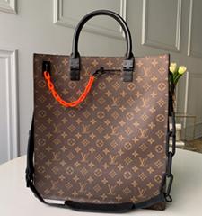 LV Santa Monica Chalk Nano Bag lv Sac Plat bag Soft Trunk Flat Messenger (Hot Product - 30*)