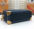 LV Santa Monica Chalk Nano Bag lv Sac Plat bag Soft Trunk Flat Messenger 9