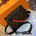 LV Santa Monica Chalk Nano Bag lv Sac Plat bag Soft Trunk Flat Messenger 17