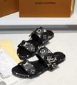 LV Lock It Flat Mule Passenger Cross Sandal LV BOM DIA MULE