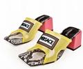 Versace 90s Vintage Logo Mid Heel Sandals Icon Leather Sandalsn versace slides 17