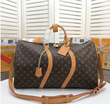 Monogram LV duffle leather man briefcase lv messenger bag travling backpack  18