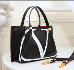 Valention Bag VLTN Canvas Shopping bag VRING Buffalo Leather Crossbody Bag