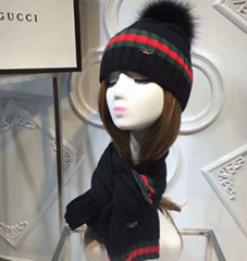 NEW Gucci hat knitted gucci signature cap with box warm headgear
