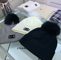 DIOR cap knitted dior Bucket hat warm headgear woman scarf