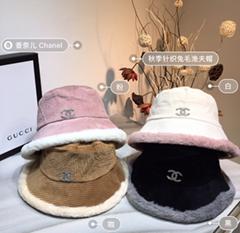 DIOR cap knitted dior Bucket hat warm headgear woman scarf