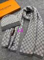 LV scarf man wool hat warm Knitted neckerchief LV muffler cap set