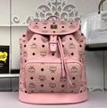 MCM Essential Drawstring Bag in Monogram Leather MCM backpack duffle