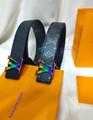 lv initiales 40mm reversible monogram eclipse 014685 LV Shape 40mm Belt 11