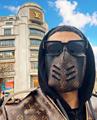 Mask off white gauze mask monogram protective mask coronavirus face shield