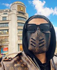 LV Mask off white gauze mask monogram protective mask coronavirus face shield (Hot Product - 7*)