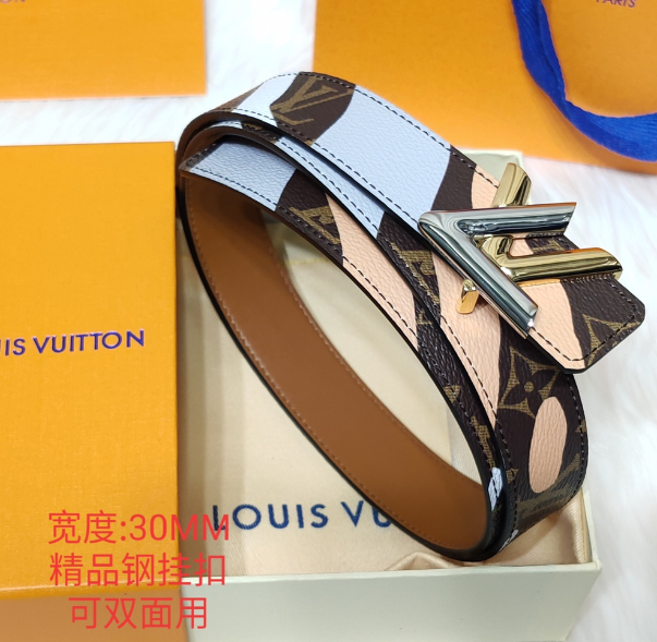 LV Circle 35mm Reversible DAILY MULTI POCKET 30MM BELT ESCALE LV ICONIC  3