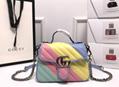 Gucci GG Marmont shoulder bag Multicolored pastel diagonal matelassé leather