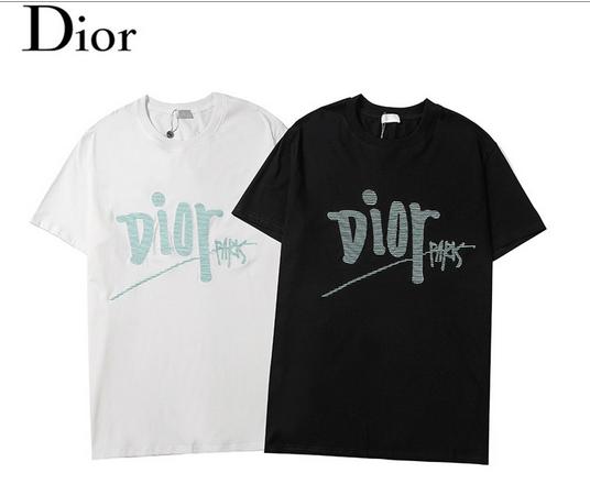 DIOR T-Shirt  Dior Oblique Motif Gradient White-to-Blue Jersey dior polo shirts 2
