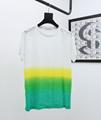 DIOR T-Shirt  Dior Oblique Motif Gradient White-to-Blue Jersey dior polo shirts 6