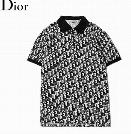 DIOR T-Shirt  Dior Oblique Motif Gradient White-to-Blue Jersey dior polo shirts 9