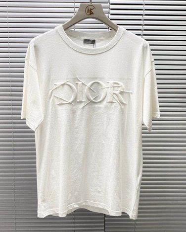 DIOR T-Shirt  Dior Oblique Motif Gradient White-to-Blue Jersey dior polo shirts 11
