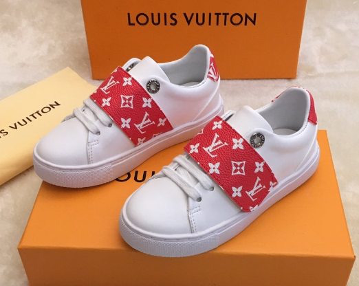 LV children's sneaker monogram trainers shoes LV kid sandal loafer mule