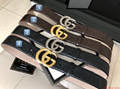 GUCCI belt MEN Nylon Web strap signature gucci real leather belt with Double G
