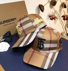 Burberry monogram bucket hat man burberry motif baseball cap
